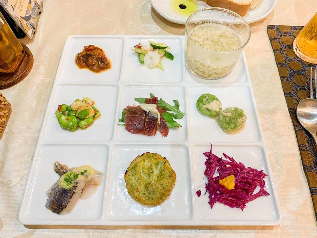 東京,神楽坂,予約,イタリアン,アンジェラ,前菜
