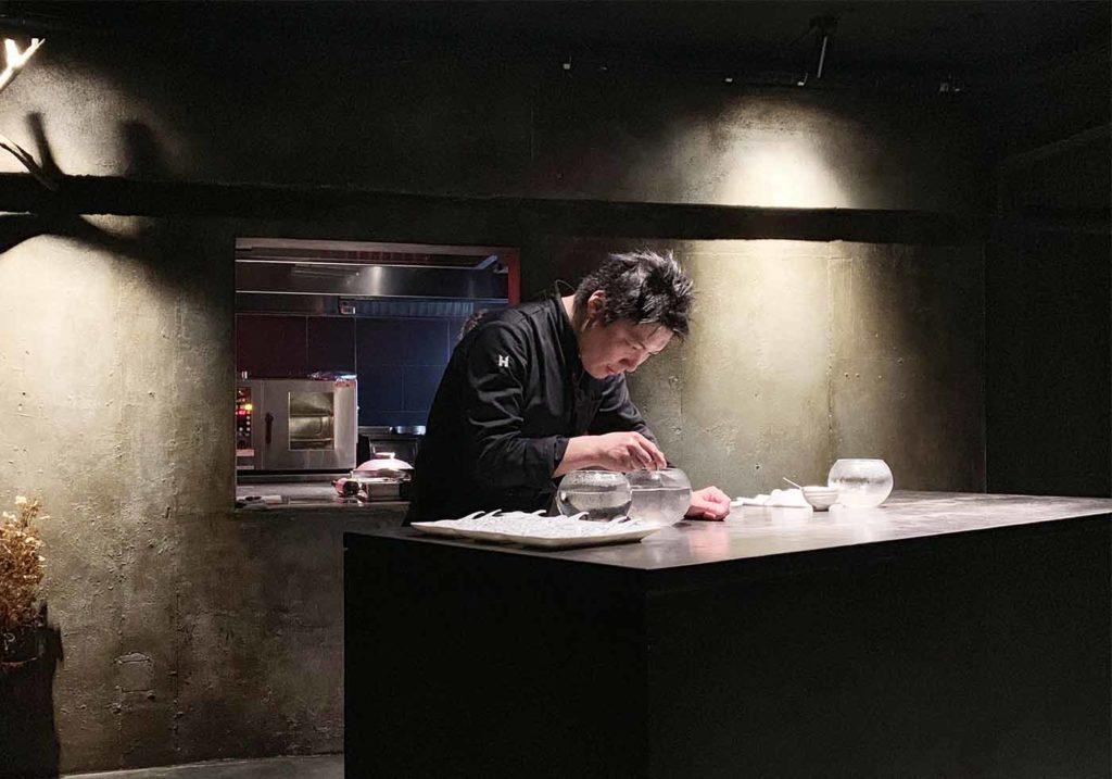 東京,神楽坂,予約,セクレト,secreto,料理,パフォーマンス