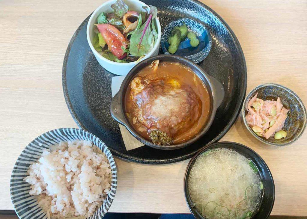 東京,神楽坂,ハンバーグ,和食,ランチ,横内