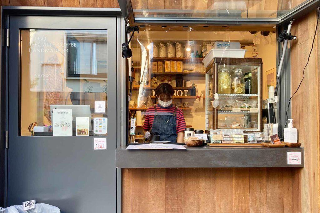 東京,神楽坂,カフェ,whynot,コーヒー,スタンド