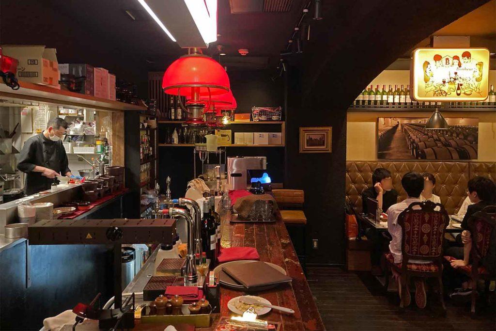 東京,神楽坂,ビストロ,ボヌール,ワイン,チーズ,肉,おすすめ,店内