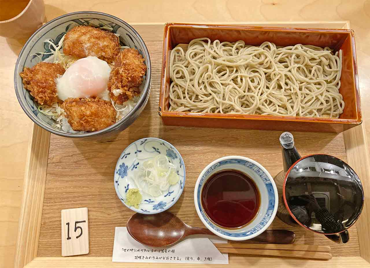 山せみ,神楽坂,蕎麦,和食,とんかつ,かつ丼,美味しい,ランチセット